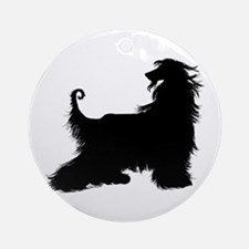 Afghan Silhouette Ornament (Round)