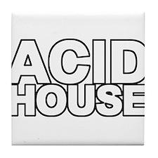 ACID HOUSE Black Line Tile Coaster