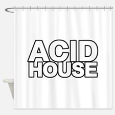 ACID HOUSE Black Line Shower Curtain