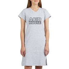ACID HOUSE Black Line Women's Nightshirt