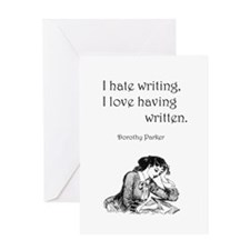 Love/Hate Writing Greeting Card