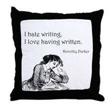 Love/Hate Writing Throw Pillow