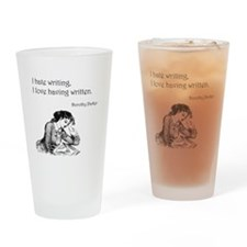 Love/Hate Writing Drinking Glass