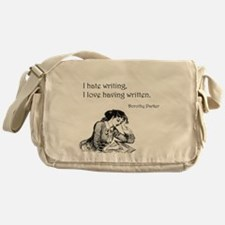 Love/Hate Writing Messenger Bag