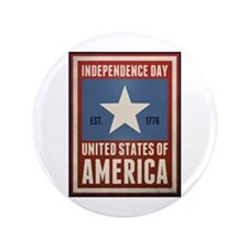 "Independence Day 3.5"" Button (100 pack)"