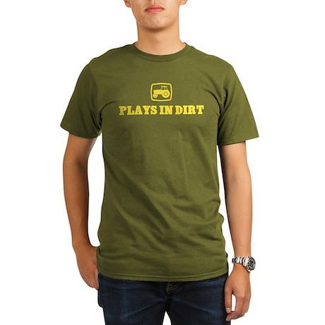 plays in dirt Organic Men's T-Shirt (dark)