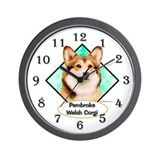 Cardigan welsh corgi Wall Clocks