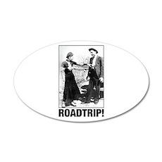 ROADTRIP! 20x12 Oval Wall Decal