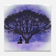 Buddha Beneath the Bodhi Tree-Light Background Til