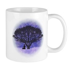 Buddha Beneath the Bodhi Tree-Light Background Mug