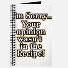 Funny recipe apron or shirt for the kitchen Journa