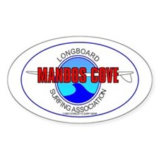 Mandos Cove Surfing Oval Decal