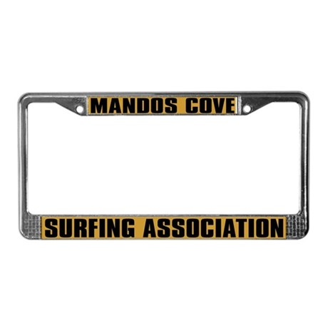 Mandos Cove Surfing License Plate Frame
