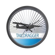 Aircraft Taildragger Wall Clock