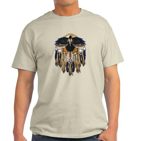 Native Crow Mandala Light T-Shirt