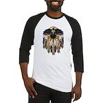 Native Crow Mandala Baseball Jersey