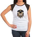 Native Crow Mandala Women's Cap Sleeve T-Shirt