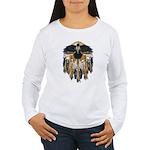 Native Crow Mandala Women's Long Sleeve T-Shirt