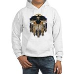 Native Crow Mandala Hooded Sweatshirt