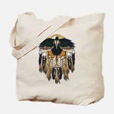 Native Crow Mandala Tote Bag