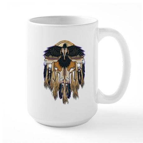 Native Crow Mandala Large Mug