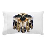 Native Crow Mandala Pillow Case