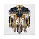 Native Crow Mandala Queen Duvet