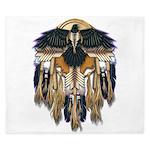 Native Crow Mandala King Duvet