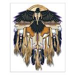 Native Crow Mandala Small Poster