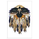 Native Crow Mandala Large Poster