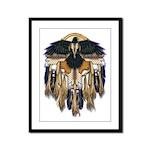 Native Crow Mandala Framed Panel Print