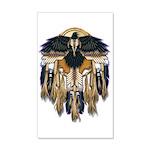 Native Crow Mandala 20x12 Wall Decal