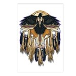 Native Crow Mandala Postcards (Package of 8)