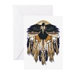 Native Crow Mandala Greeting Cards (Pk of 10)