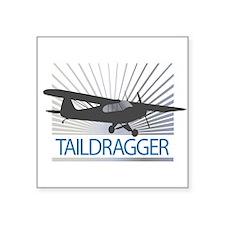 "Aircraft Taildragger Square Sticker 3"" x 3"""