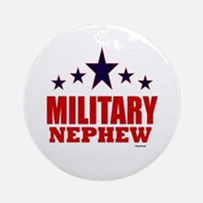 Military Nephew Ornament (Round)