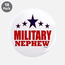"""Military Nephew 3.5"""" Button (10 pack)"""