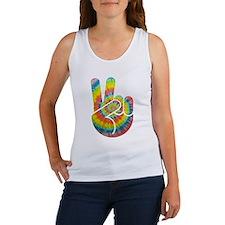 Tie-Dye Peace Hand Women's Tank Top