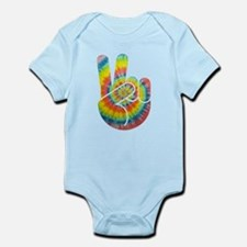 Tie-Dye Peace Hand Infant Bodysuit
