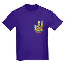 Tie-Dye Peace Hand T