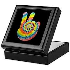 Tie-Dye Peace Hand Keepsake Box