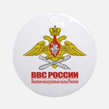 Russian Air Force Emblem Ornament (Round)