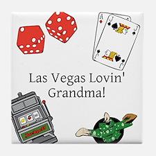 Las Vegas Lovin Grandma Tile Coaster