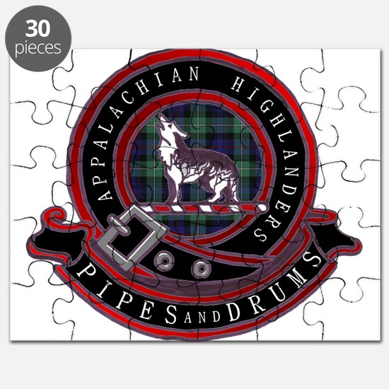 Appalachian Highlanders Pipes and Drums Logo Puzzl