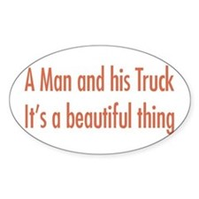 A Man and His Truck Decal