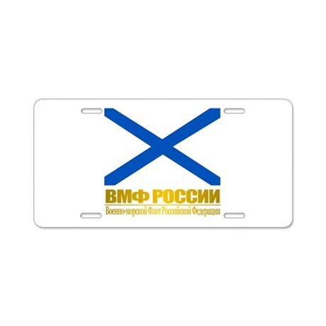 Russian Navy Ensign Aluminum License Plate
