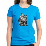 Tabby Cutie Face Kitten Women's Dark T-Shirt