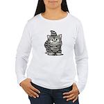 Tabby Cutie Face Kitten Women's Long Sleeve T-Shir