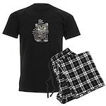 Tabby Cutie Face Kitten Men's Dark Pajamas