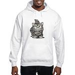 Tabby Cutie Face Kitten Hooded Sweatshirt